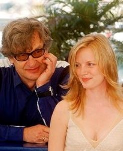 Wim Wenders e Sarah Polley no Festival de Cannes de 2005